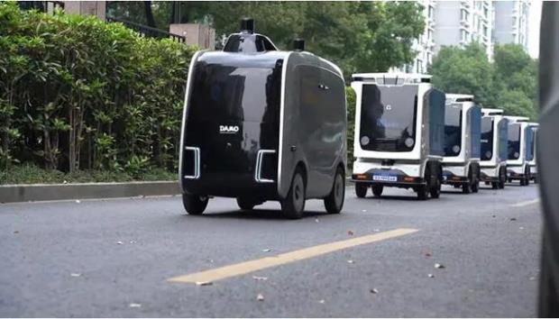 室外园区无人配送机器人