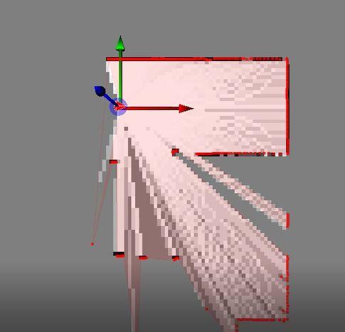 将机器人控制到离一面直墙若干米的位置,面朝直墙,如下图所示。