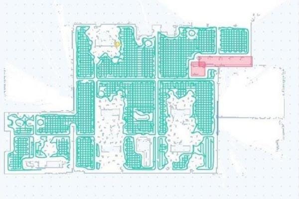 岚豹扫地机器人地图构建效果