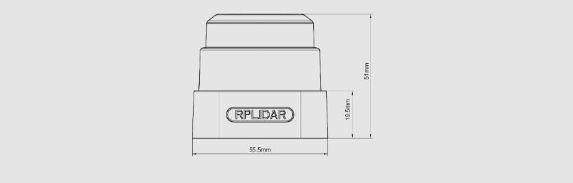 思岚科技RPLIDAR S1尺寸图