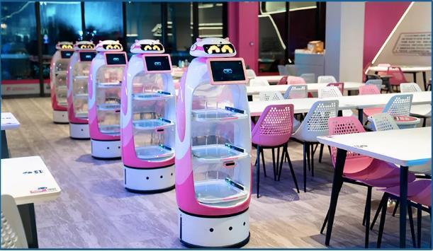 餐厅无人配送机器人