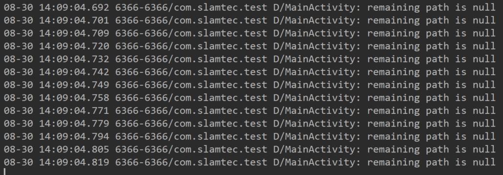 运行程序Logcat输出如下,机器人底盘无法规划出路径,也不会运动